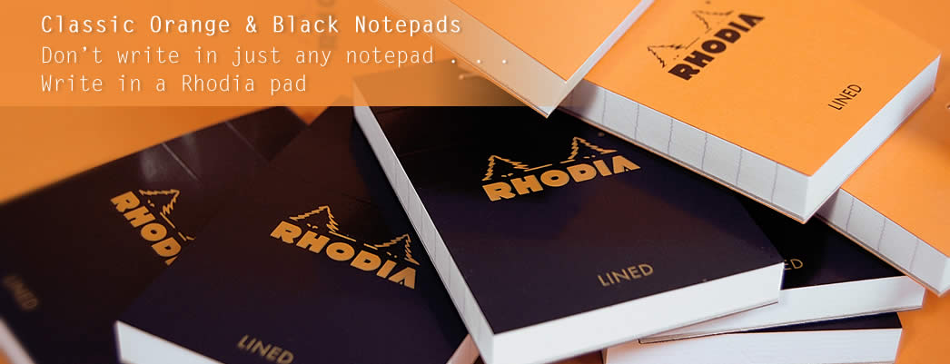Rhodia notebooks writing pads official us distributor classic orange notepads colourmoves