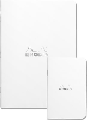 Side Stapled Rhodia Ice Notebooks