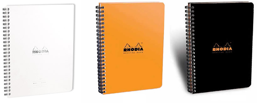 Meeting Book - A4 & A5 - Available in Ice, Orange or Black