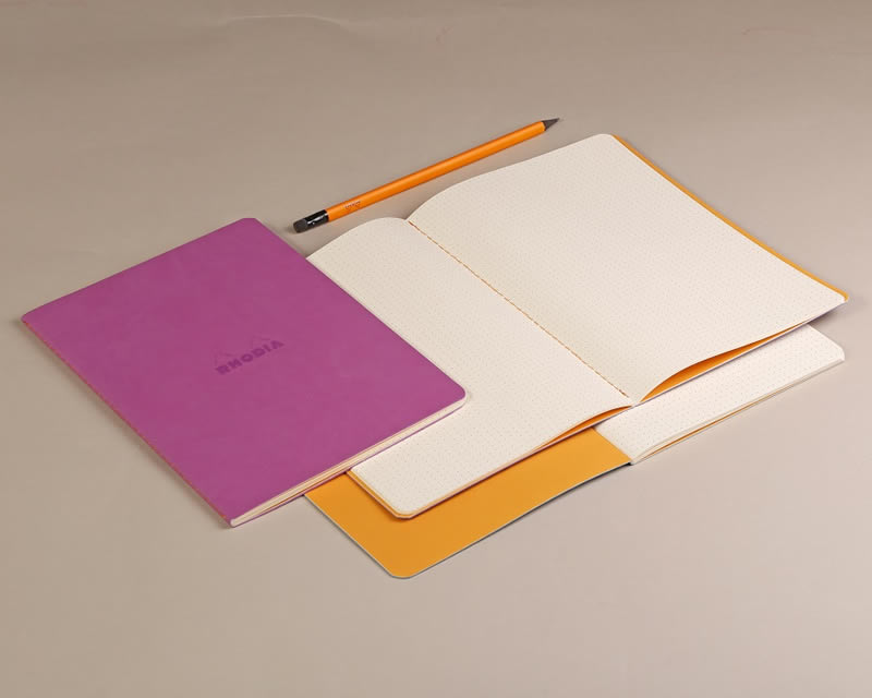 sewn spine rhodiarama notebooks rhodia weekly notebooks and planners